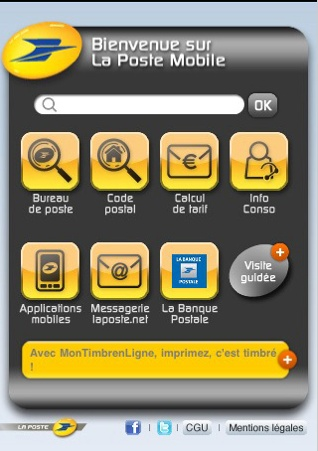 Application iPhone La Poste