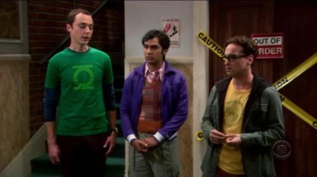 Sheldon et son tshirt Green Lantern